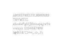 Fuente del alfabeto del esquema de Dymond Speers Foto de archivo