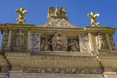 Fuente del búho en el chalet d 'Este en Tivoli, Italia fotos de archivo libres de regalías