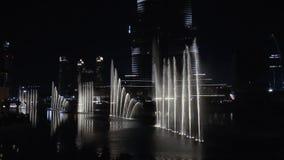 Fuente del baile en Dubai metrajes