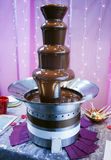 Fuente del chocolate Fotografía de archivo libre de regalías