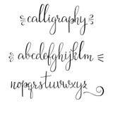 Fuente del cursive de la caligrafía Fotografía de archivo