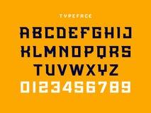 Fuente del deporte Alfabeto del vector con las letras latinas y los números libre illustration