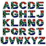 Fuente del indicador de Suráfrica stock de ilustración