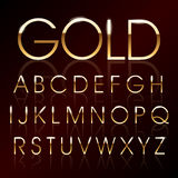 Fuente del oro del vector Fotos de archivo