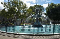 Fuente del pavo real de Christchurch imagenes de archivo