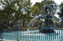 Fuente del pavo real en Christchurch fotografía de archivo libre de regalías