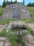Fuente del río de Morava, colina de Kralicky Sneznik Imagen de archivo libre de regalías