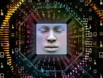 Fuente del ser humano estupendo AI Imagen de archivo libre de regalías