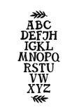 Fuente del trazo de pie del alfabeto Imagen de archivo