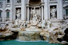 Fuente del Trevi en Roma Foto de archivo libre de regalías