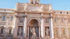Fuente del Trevi en Roma almacen de video