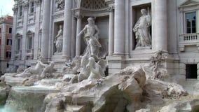 Fuente del Trevi en Roma Italia almacen de video