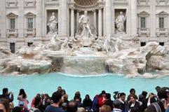 Fuente del Trevi (Fontana di Trevi), Roma, Italia foto de archivo