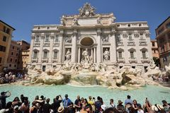 Fuente del Trevi, Roma, Italia Imágenes de archivo libres de regalías