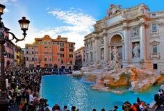 Fuente del Trevi, Roma Italia imagen de archivo