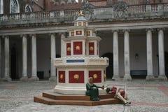 Fuente del vino, corte baja, Hampton Court Palace Imagen de archivo