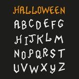 Fuente dibujada mano de Halloween Fotografía de archivo