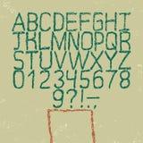 Fuente dibujada mano del vector Alfabeto del estilo del bosquejo Foto de archivo libre de regalías