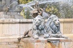 Fuente en Aix una Provence fotos de archivo libres de regalías