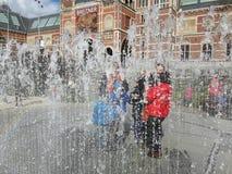 Fuente en Amsterdam Imagen de archivo libre de regalías