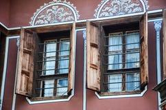 Fuente en el ayuntamiento de Hamburgo Fotografía de archivo libre de regalías