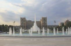 Fuente en el bulevar en Baku Fotografía de archivo libre de regalías