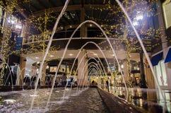 Fuente en el centro comercial de la cala de la ciudad en Salt Lake City, Utah foto de archivo libre de regalías