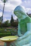 Fuente en el cuadrado de América en Sevilla Imagen de archivo