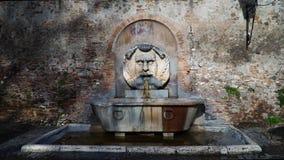 Fuente en el jardín anaranjado, degli Aranci de Roma, Italia Giardino almacen de video