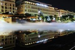 Fuente en el Masena cuadrado en Niza Imagen de archivo