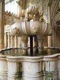 Fuente en el monasterio de Batalha Imagen de archivo libre de regalías