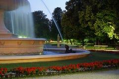 Fuente en el parque Foto de archivo libre de regalías