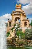 Fuente en el parque de Parc de la Ciutadella Citadel, Barcelona Imagen de archivo libre de regalías