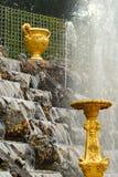 Fuente en el parque de Versalles Foto de archivo libre de regalías