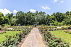 Fuente en el parque público en los jardines de Bellingraths Fotografía de archivo