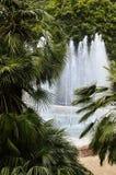 Fuente en el parque verde Imagen de archivo