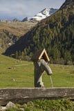Fuente en el valle de Vals Imagenes de archivo