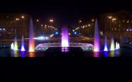 Fuente en la noche Fotos de archivo