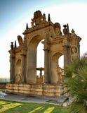 Fuente en la 'promenade' de Naple Foto de archivo libre de regalías