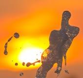 Fuente en la puesta del sol Imagenes de archivo