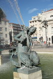 Fuente en Lisboa Imagen de archivo libre de regalías
