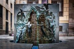 Fuente en Malaga Arkivbilder
