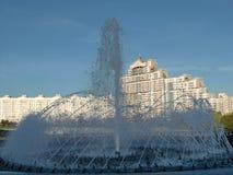 Fuente en Minsk (Bielorrusia) Fotos de archivo