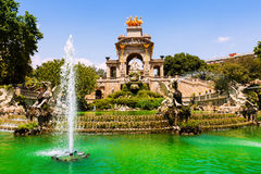 Fuente en Parc de la Ciutadella Imagenes de archivo