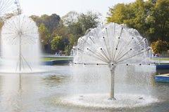 Fuente en parque Imagenes de archivo
