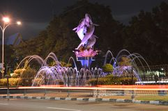 Fuente en Pekanbaru, Riau foto de archivo