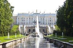 Fuente en Petrodvorets Fotos de archivo libres de regalías