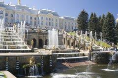 Fuente en Petrodvorets (Pete Fotos de archivo libres de regalías