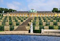 Fuente en Sanssouci, Potsdam fotos de archivo libres de regalías