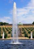 Fuente en Sanssouci, Potsdam fotografía de archivo